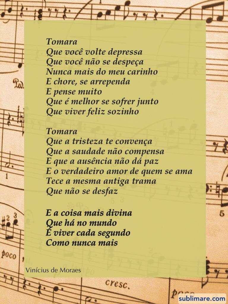 Tomara - Vinicius de Moraes