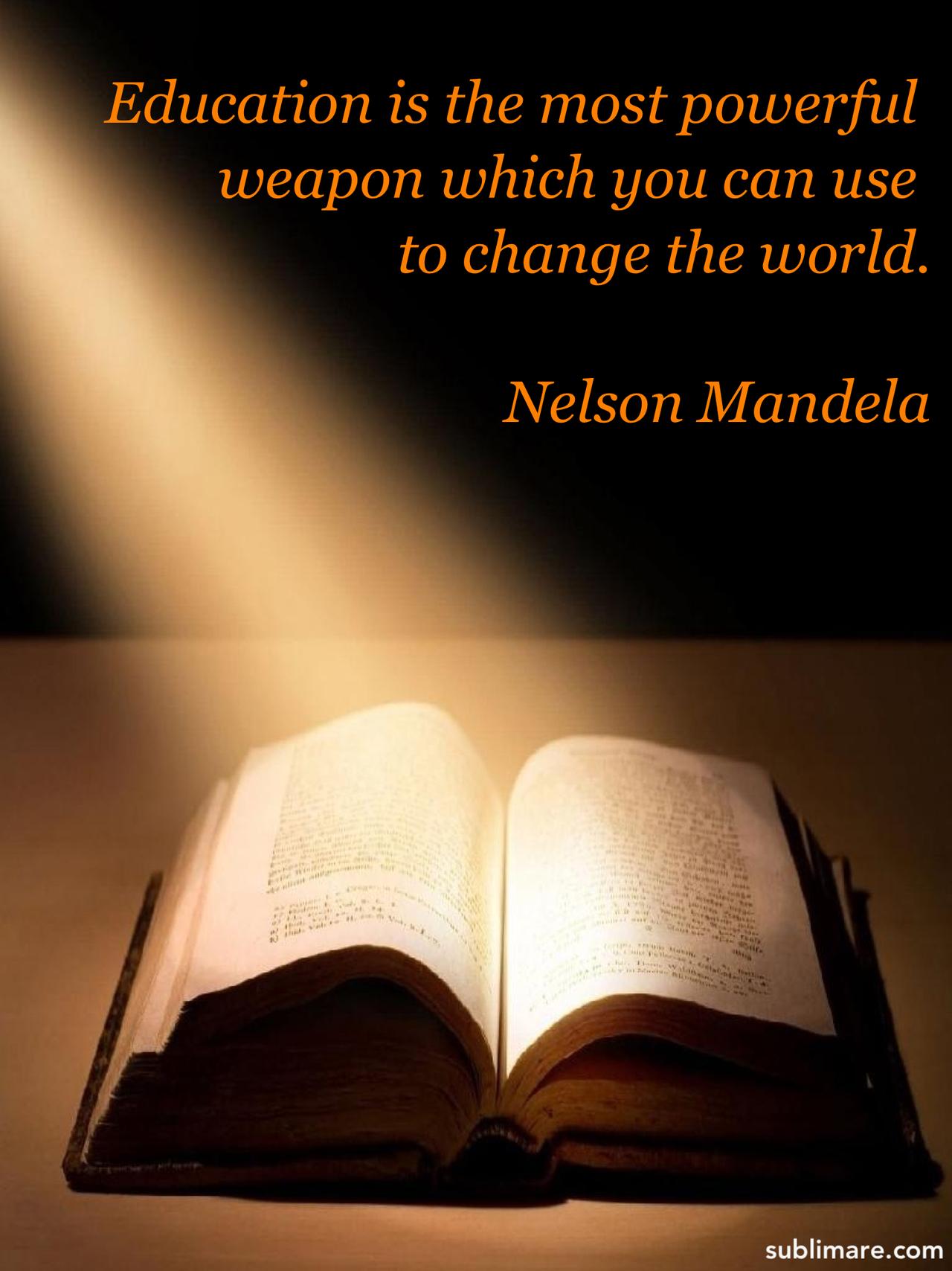 Education By Mandela. U201c